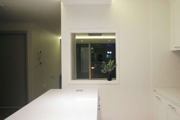 그린빌 13단지 21PY: 비브라운 디자인 의  주방