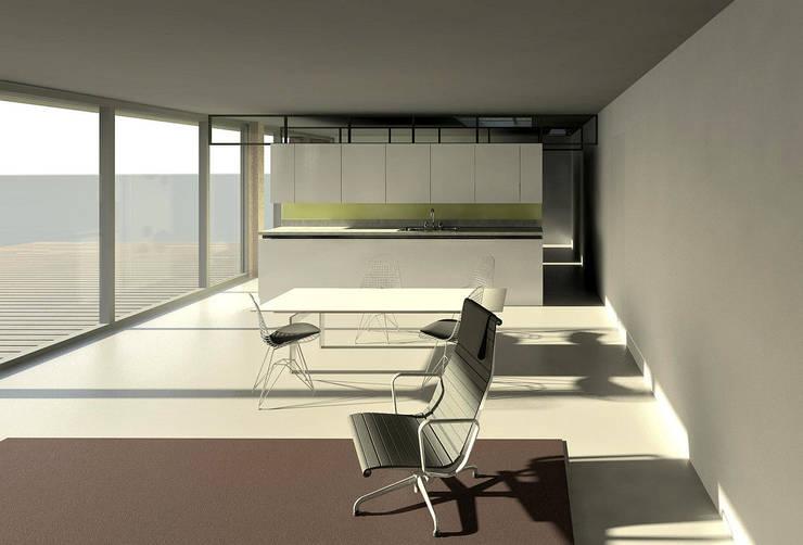 Woon- Eetkamer Tuinhuis:  Eetkamer door Hugo Caron Architecten bna