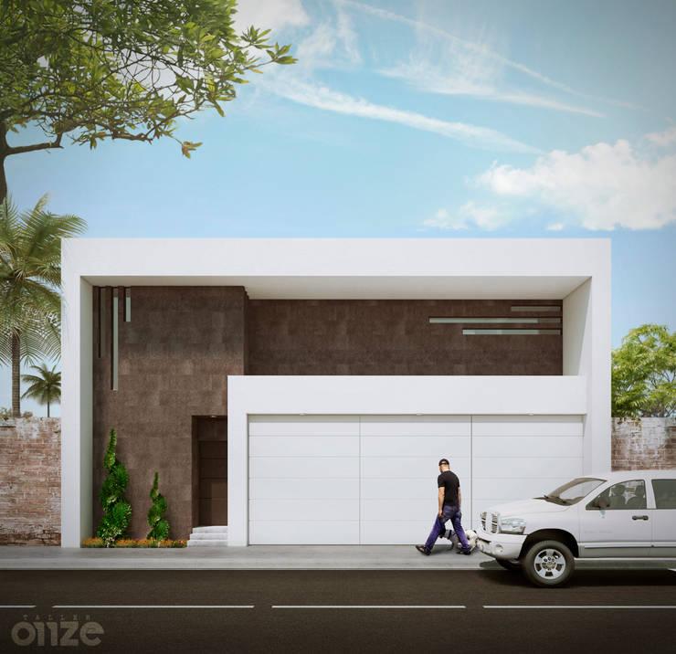 Casa LP: Casas de estilo  por Taller Onze