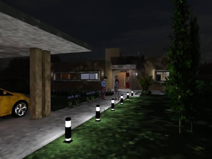 Acceso Peatonal: Casas de estilo  por Gastón Blanco Arquitecto,