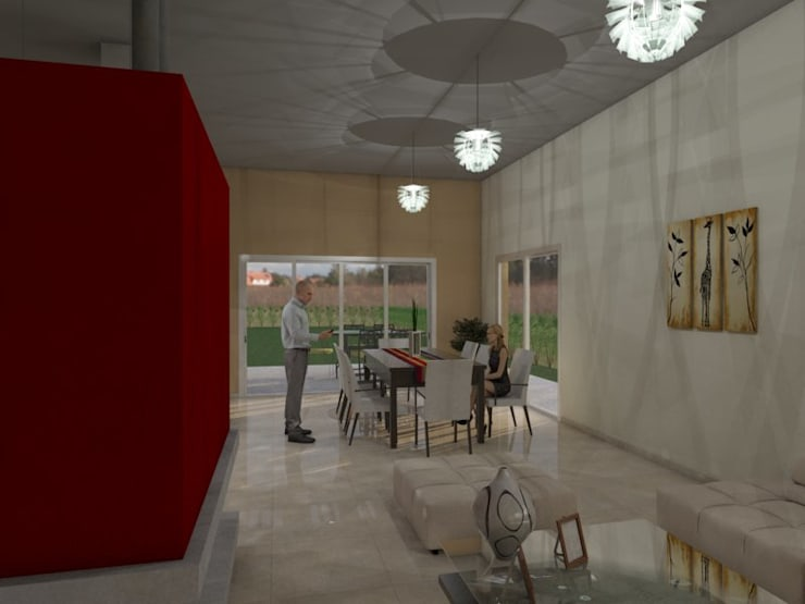 Living - Comedor: Livings de estilo  por Gastón Blanco Arquitecto,