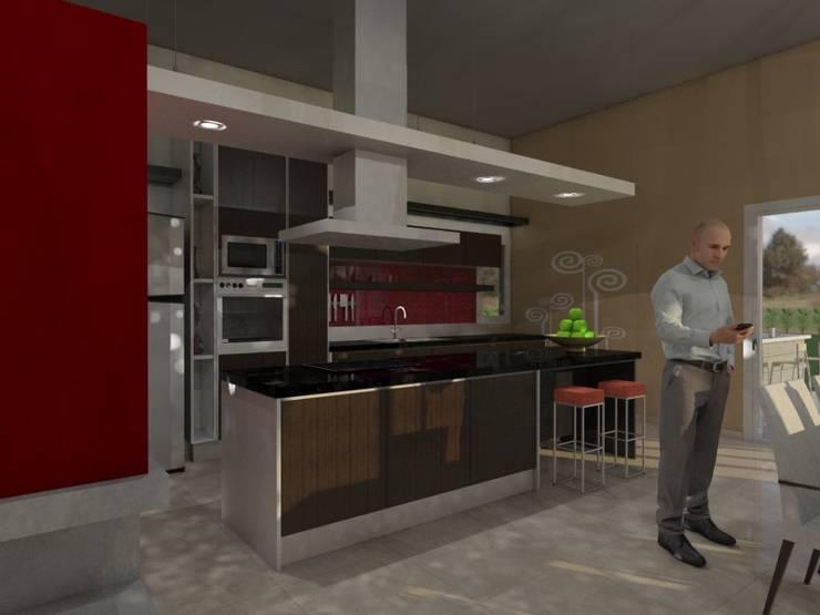 Cocina: Cocinas de estilo  por Gastón Blanco Arquitecto,