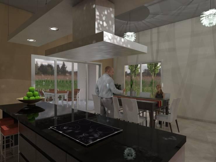 Cocina - Comedor: Cocinas de estilo  por Gastón Blanco Arquitecto,