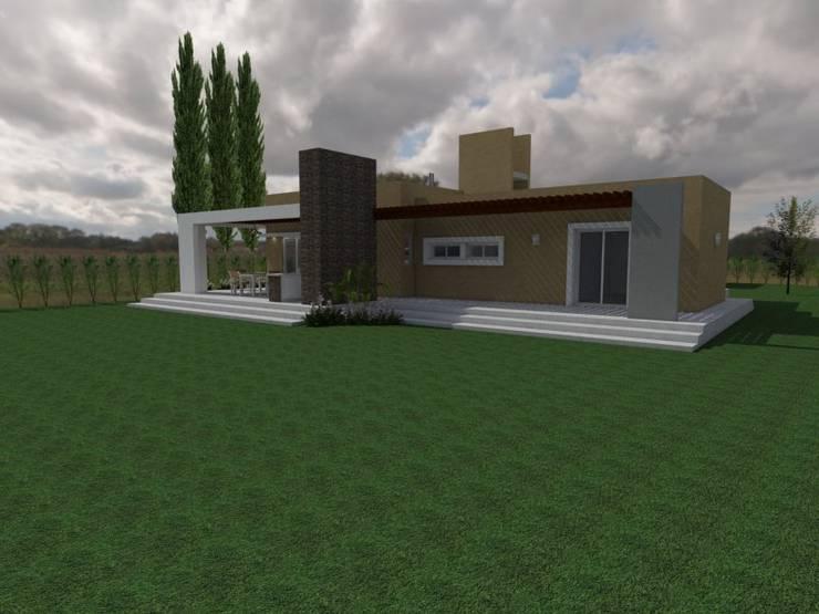 Fachada Sur: Casas de estilo  por Gastón Blanco Arquitecto,