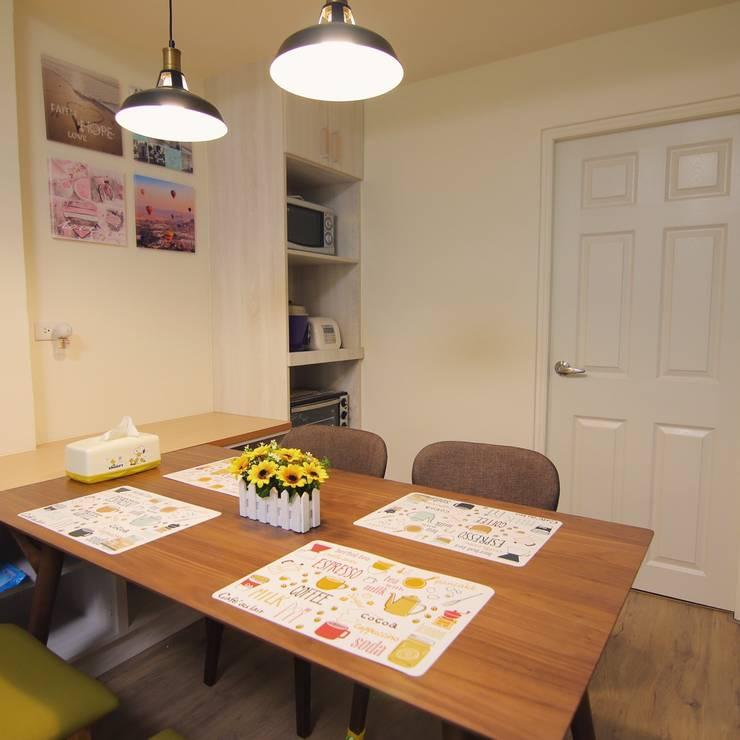 小空間大利用:  餐廳 by 豪斯室內空間設計