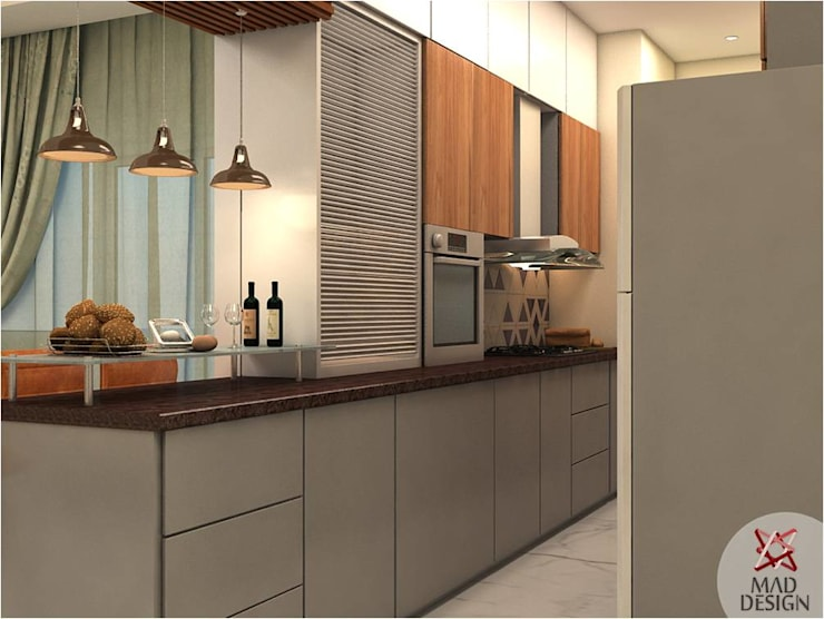 KITCHEN VIEW 1:  Kitchen by MAD DESIGN