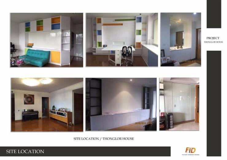 บ้านทองหล่อ 23 (STYLE MODERN):   by Future Interior Design Co.,Ltd.
