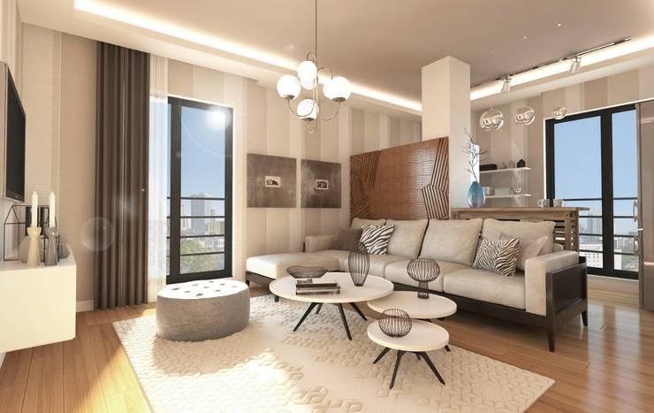 modern Living room by GEKADESIGN