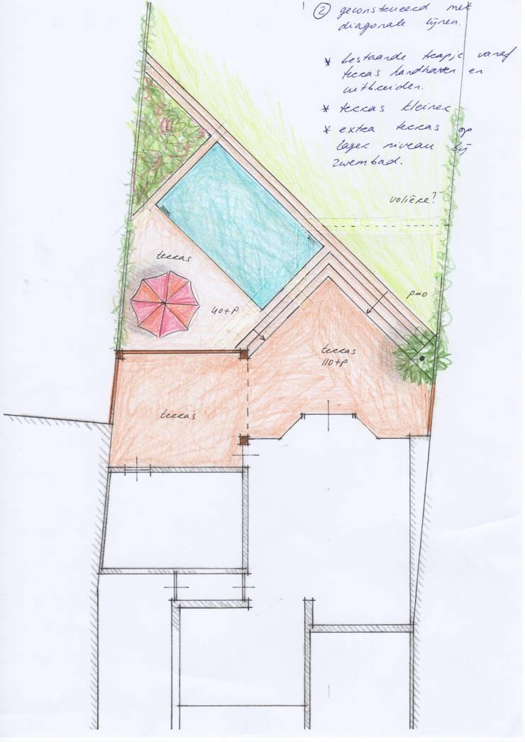 Diagonale opstelling:   door Gaby Paulissen Architect