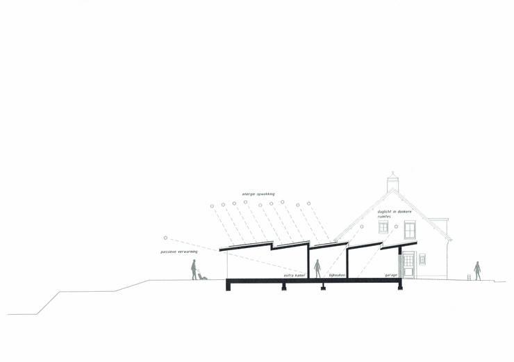 Vleugelhuis: modern  door Marks - van Ham architectuur, Modern