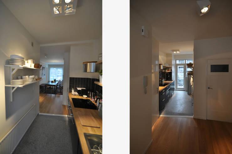 Stadsappartement:  Keuken door Marks - van Ham architectuur, Modern