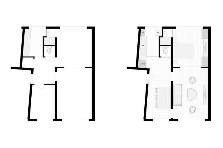 Stadsappartement: modern  door Marks - van Ham architectuur, Modern