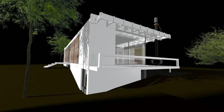 white concept:  Huizen door hans moor architect, Modern
