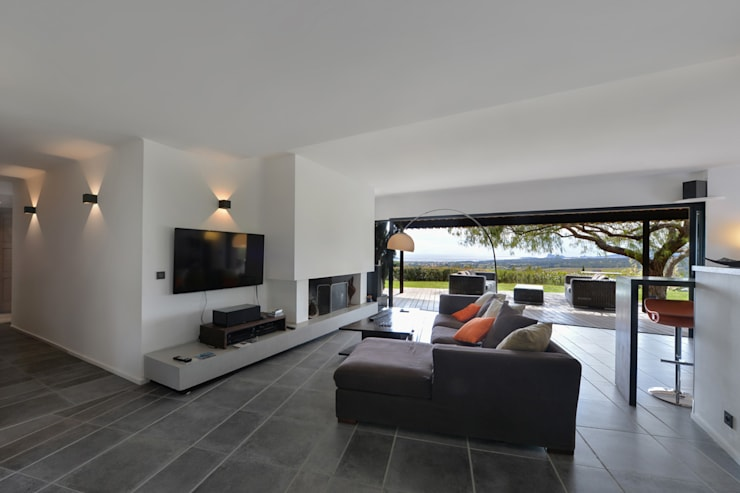 Mediterrane woonkamers van Atelier Jean GOUZY Mediterraan