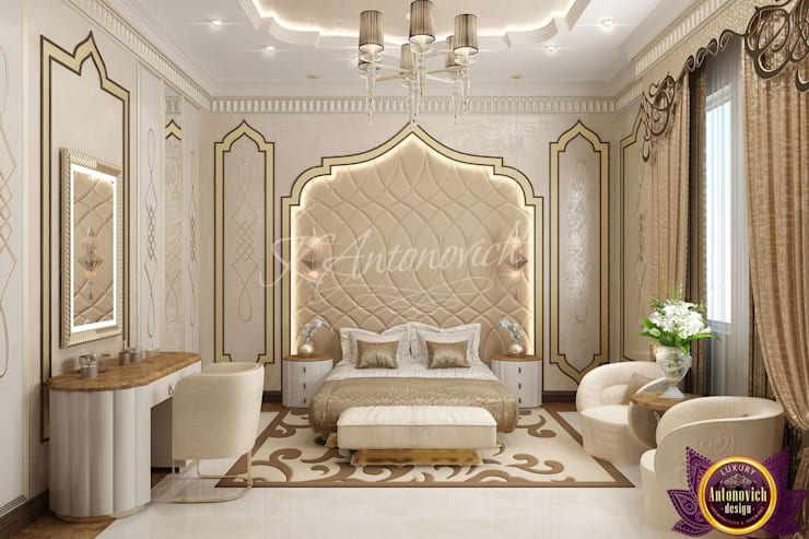 ​  Luxurious bedroom design from Katrina Antonovich:  Bedroom by Luxury Antonovich Design