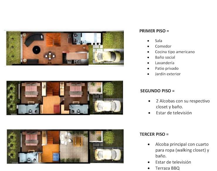 PLANTAS : Habitaciones de estilo  por DG ARQUITECTURA COLOMBIA, Moderno