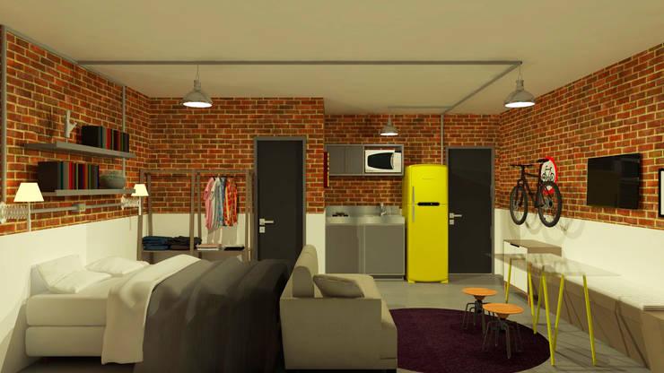 Apartamento Perdizes: Salas de estar  por Studio Escala Arquitetura e Interiores,Industrial