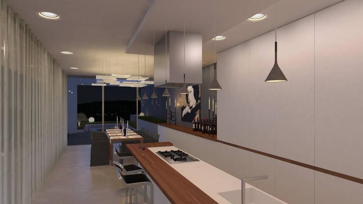 Hoteles de estilo  por MOTUS architects, Moderno