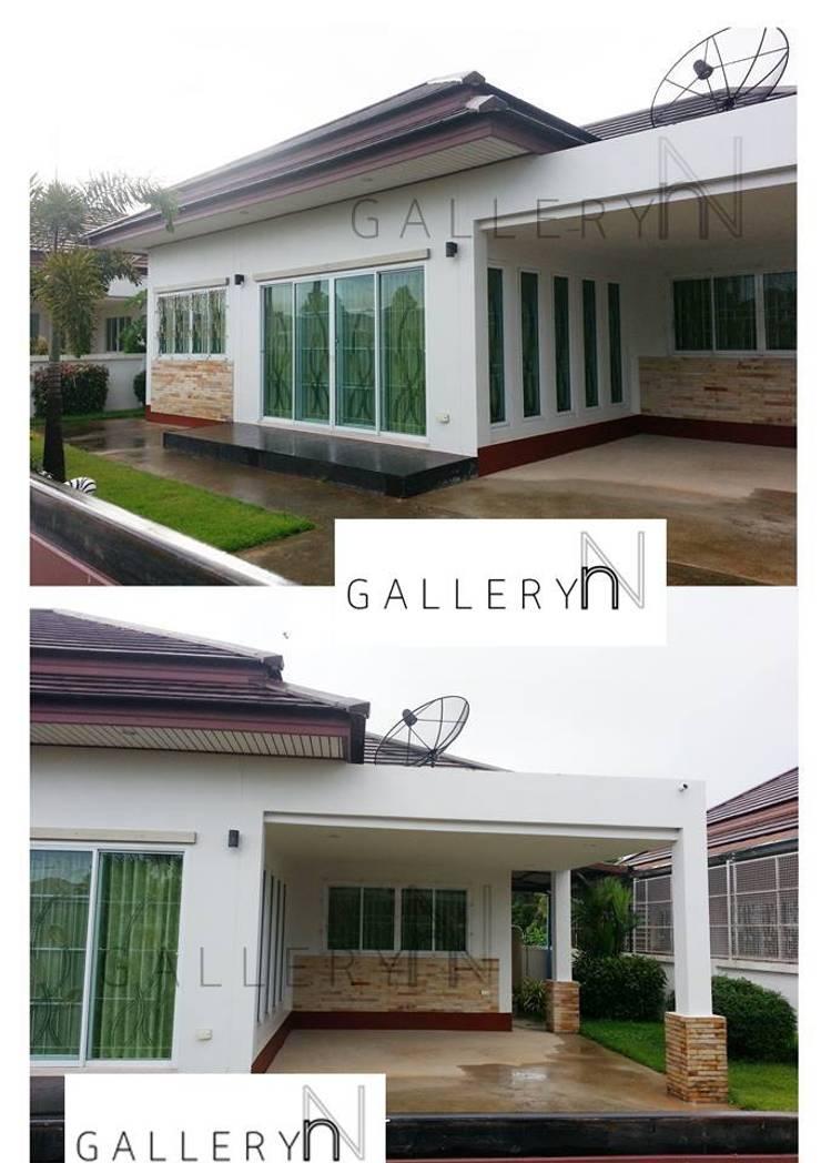 GN02:: บ้านชั้นเดียว สไตล์รีสอร์ท:   by penmitrdesignbuilder