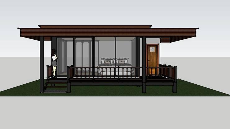 บ้านพักตากอากาศชั้นเดียว 1ห้องนอน 1ห้องนํ้า:   by เจแอนด์เจ