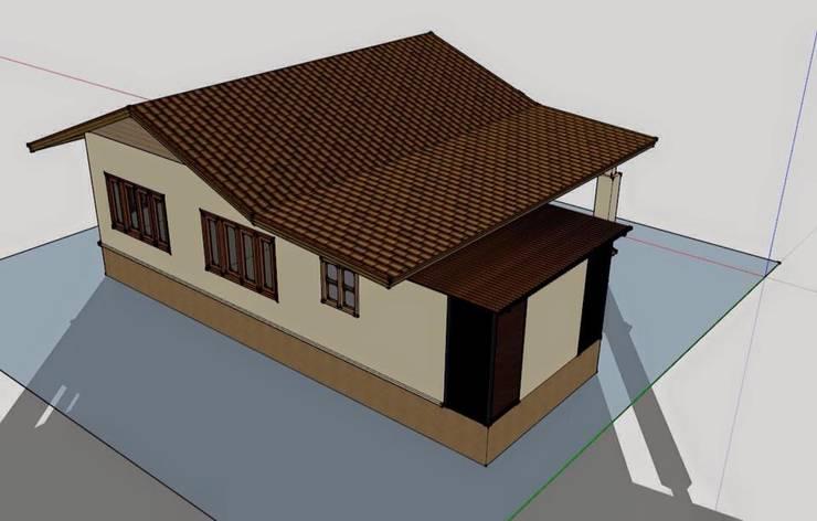 บ้านชั้นเดียว 2ห้องนอน 1ห้องนํ้า 1ห้องครัว:   by เจแอนด์เจ