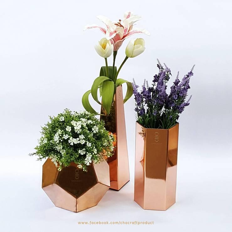 Copper Vase Set:   by chocraft
