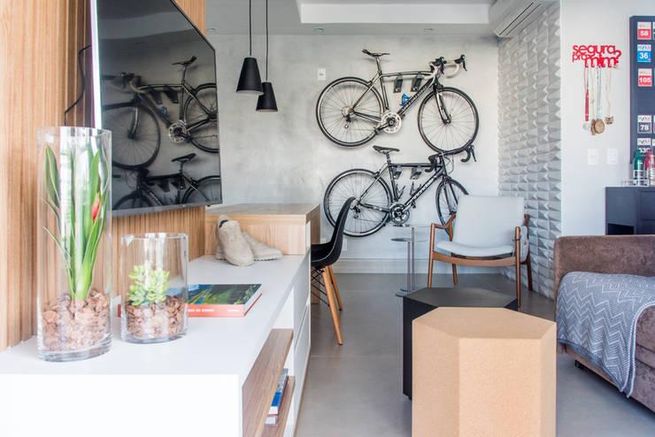 Projekty,  Salon zaprojektowane przez Danyela Corrêa Arquitetura