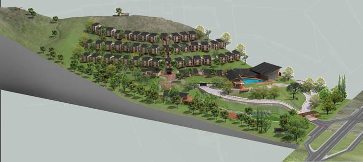 Hotel Resort y Spa 5 estrellas Cerro Dorado:  de estilo  por Development Architectural group