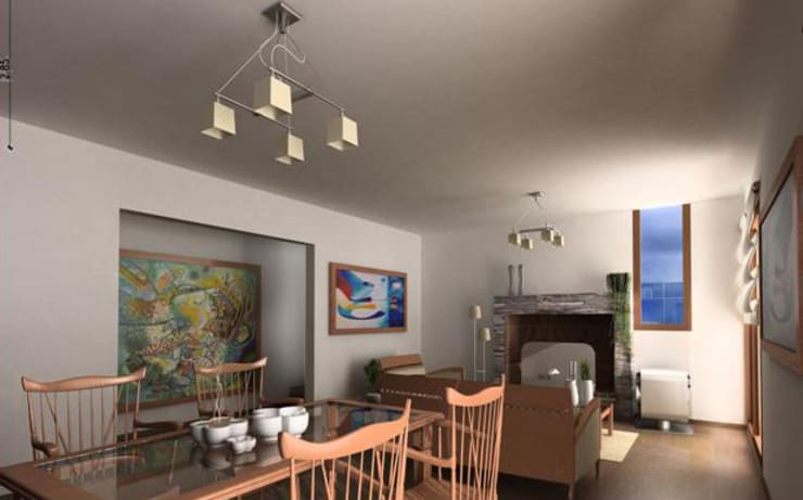 Hotel Resort y Spa 5 estrellas Cerro Dorado: Livings de estilo  por Development Architectural group
