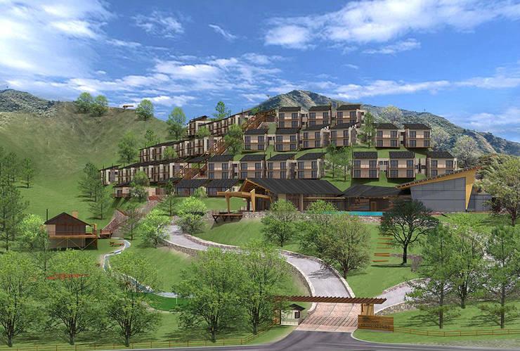 Hotel Resort y Spa 5 estrellas Cerro Dorado: Casas de estilo  por Development Architectural group