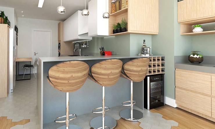 Projekty,  Kuchnia zaprojektowane przez Aresto Arquitetura