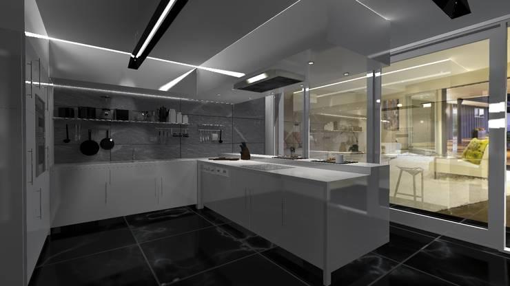Cocina Minimalista: Cocinas de estilo  por Diseño de Locales