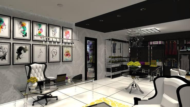 Oficina: Estudios y oficinas de estilo  por Diseño de Locales