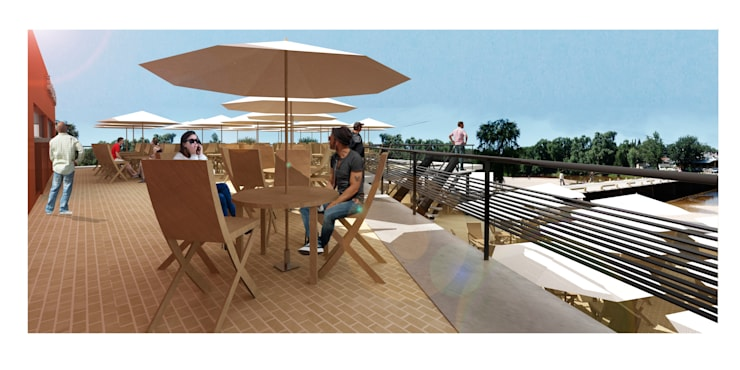 Lounge Bar La Playa: Terrazas de estilo  por Development Architectural group