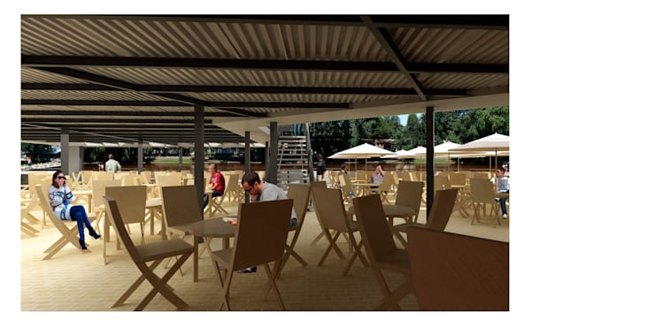 Lounge Bar La Playa: Casas de estilo  por Development Architectural group