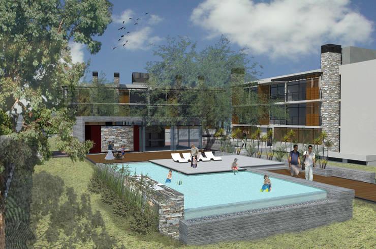 Lagrange Parc Departamentos de categoría: Piletas de estilo  por Development Architectural group
