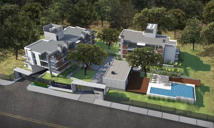 Lagrange Parc Departamentos de categoría: Casas de estilo  por Development Architectural group
