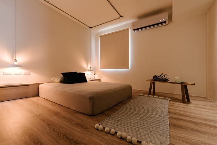 5F主臥室:  臥室 by 隹設計 ZHUI Design Studio