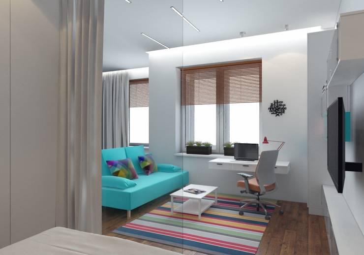 modern Living room by Anastasia Yakovleva design studio