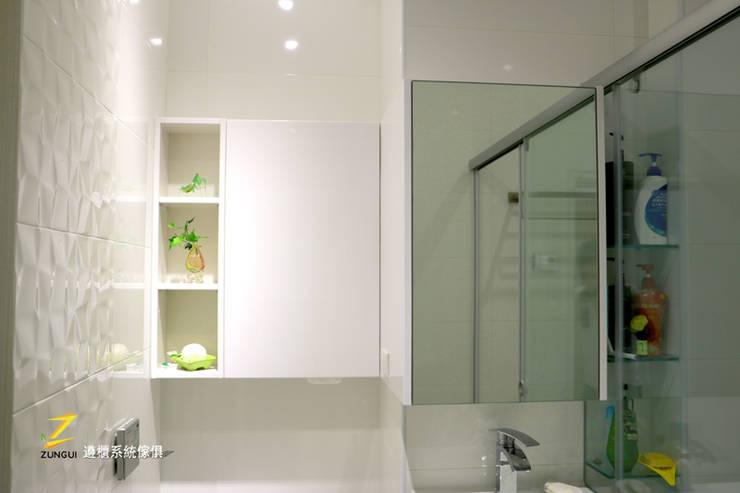 桃園天下至尊徐公館:  浴室 by 遵櫃系統傢俱