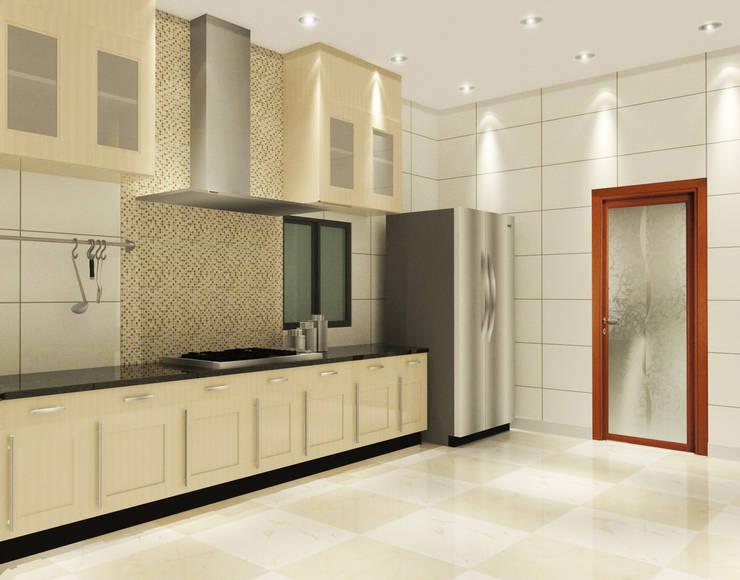 Kitchen 3D Design #2:  ห้องครัว by SIAMTAK CO., LTD.
