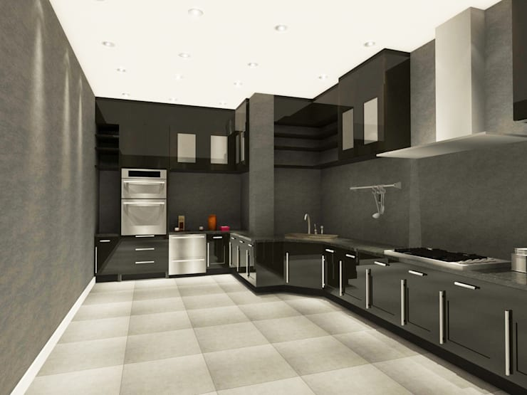 Kitchen 3D Design #3:  ห้องครัว by SIAMTAK CO., LTD.