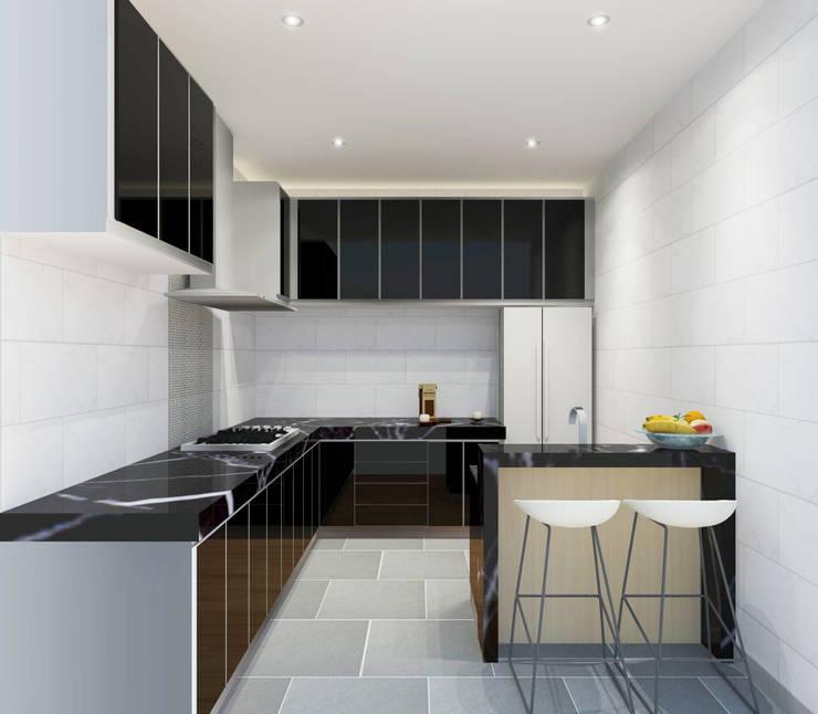 Kitchen 3D Design #4:  ห้องครัว by SIAMTAK CO., LTD.
