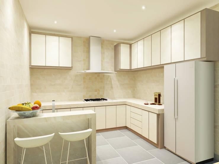 Kitchen 3D Design #5:  ห้องครัว by SIAMTAK CO., LTD.