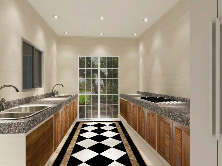 Kitchen 3D Design #8:  ห้องครัว by SIAMTAK CO., LTD.