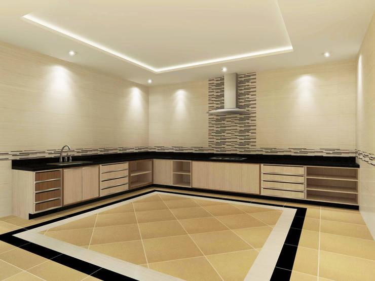 Kitchen 3D Design #9:  ห้องครัว by SIAMTAK CO., LTD.
