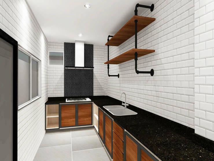 Kitchen 3D Design #11:  ห้องครัว by SIAMTAK CO., LTD.