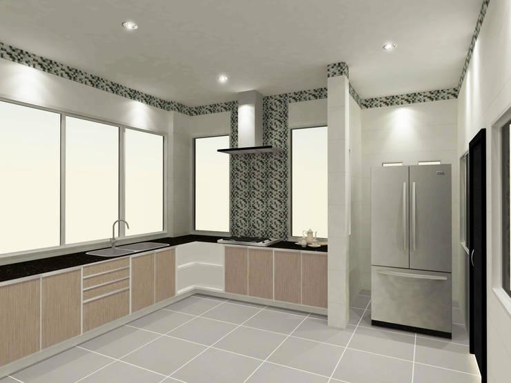 Kitchen 3D Design #18:  ห้องครัว by SIAMTAK CO., LTD.