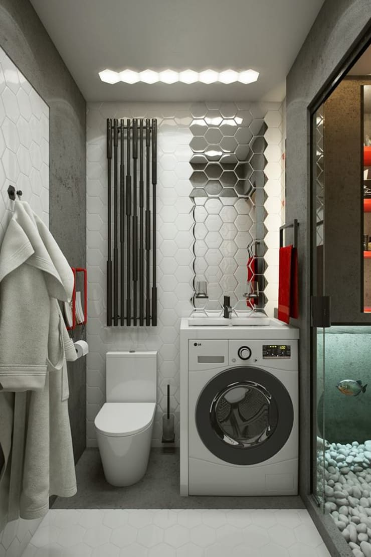 North Point Residential: modern Bathroom by CLOUD9 DESIGN