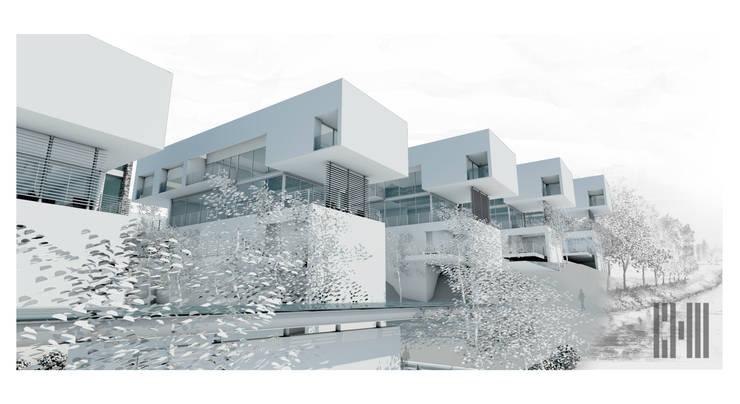 6 CASAS + 1 QUINCHO:  de estilo  por CH2 arquitectos
